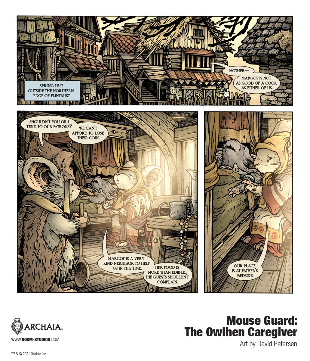 MouseGuard_OwlhenCaregiver_InteriorArt_001_PROMO MOUSE GUARD welcomes back David Petersen in THE OWLHEN CAREGIVER