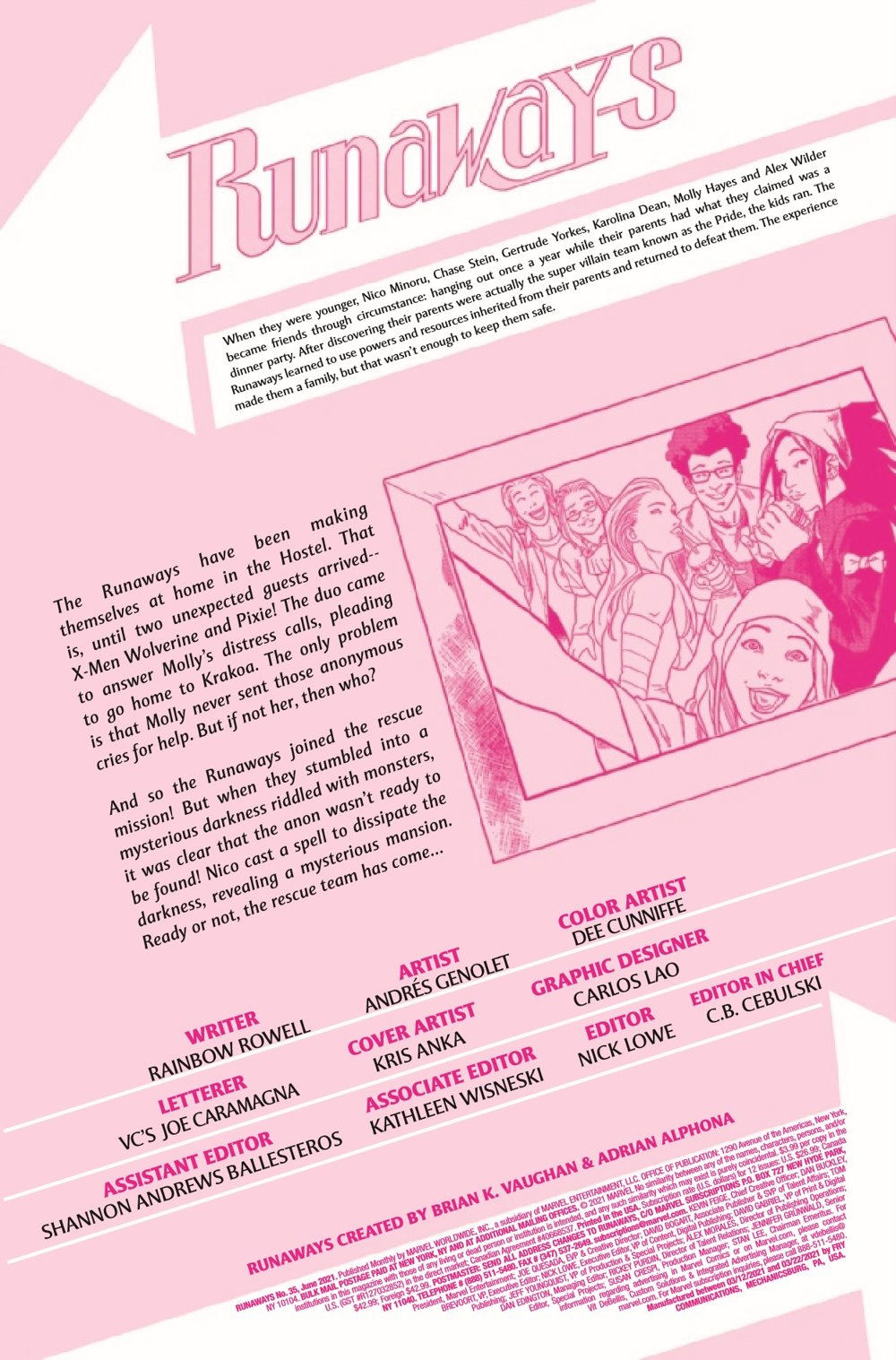 RUNAWY2017035_Preview-2 ComicList Previews: RUNAWAYS #35