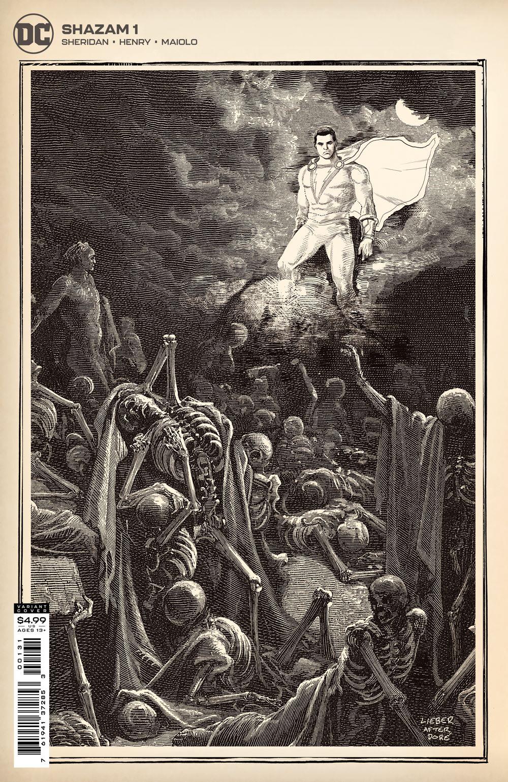 SHAZAM_Cv1_1IN25_var DC Comics July 2021 Solicitations