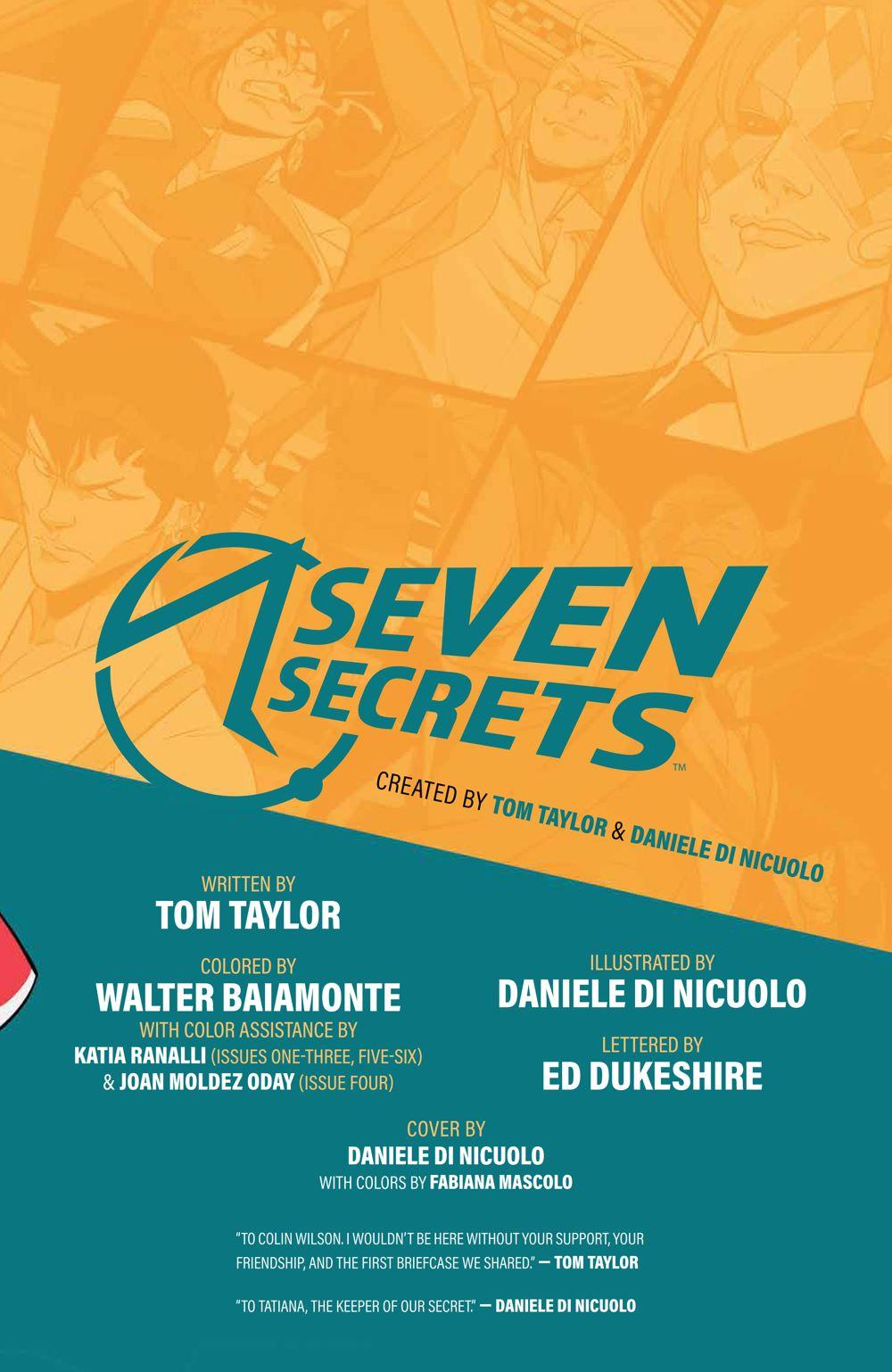 SevenSecrets_v1_SC_PRESS_5 ComicList Previews: SEVEN SECRETS VOLUME 1 TP