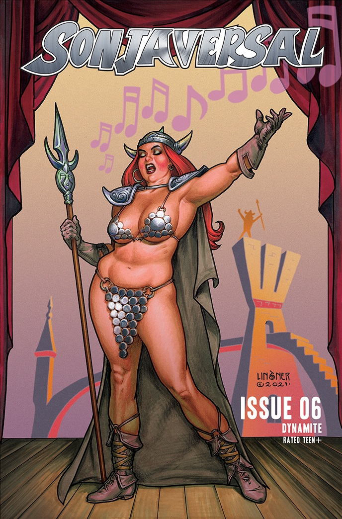 Sonjaversal-06-06021-B-Linsner-1 Dynamite Entertainment July 2021 Solicitations