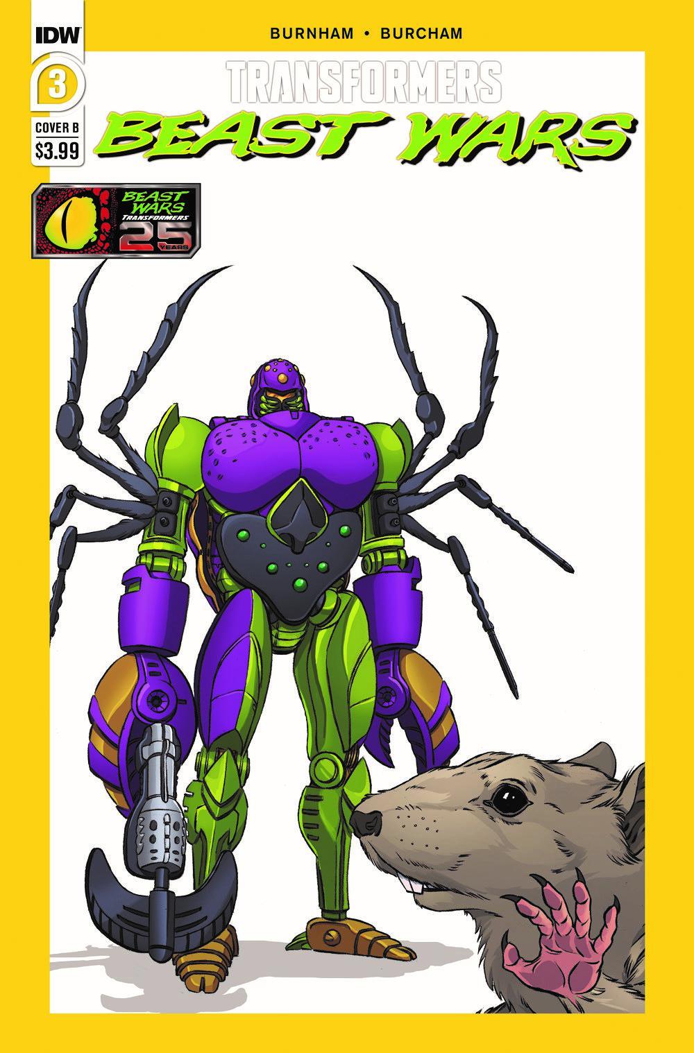 TFBW03-Cover-B ComicList Previews: TRANSFORMERS BEAST WARS #3