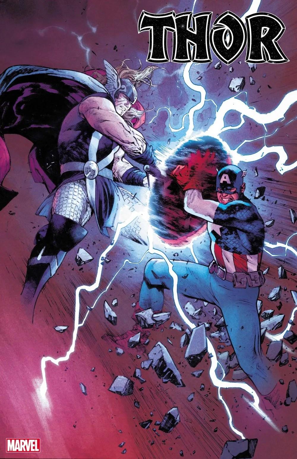 THOR2020015_cvr-1 Thor battles Captain America on THOR #15 variant cover