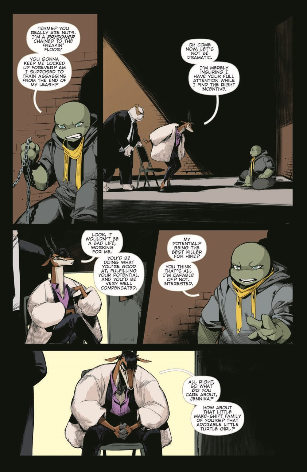 TMNT-JennikaII_06_pr-5 ComicList Previews: TEENAGE MUTANT NINJA TURTLES JENNIKA II #6 (OF 6)