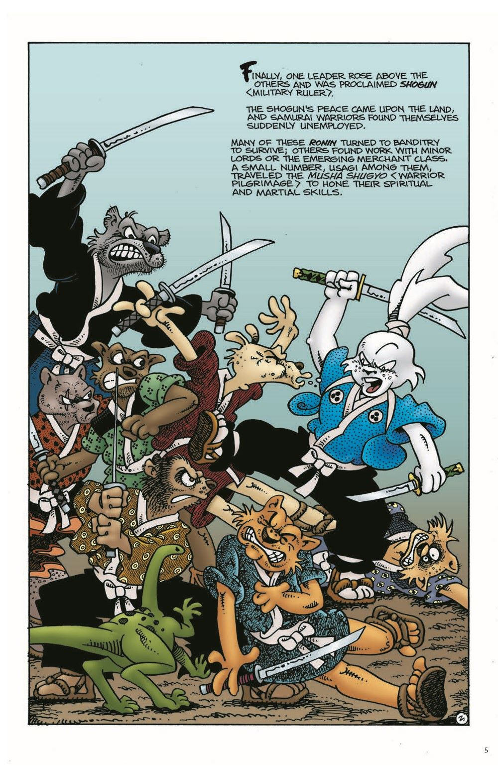Usagi-Origins-v01-pr-4 ComicList Previews: USAGI YOJIMBO ORIGINS VOLUME 1 SAMURAI TP