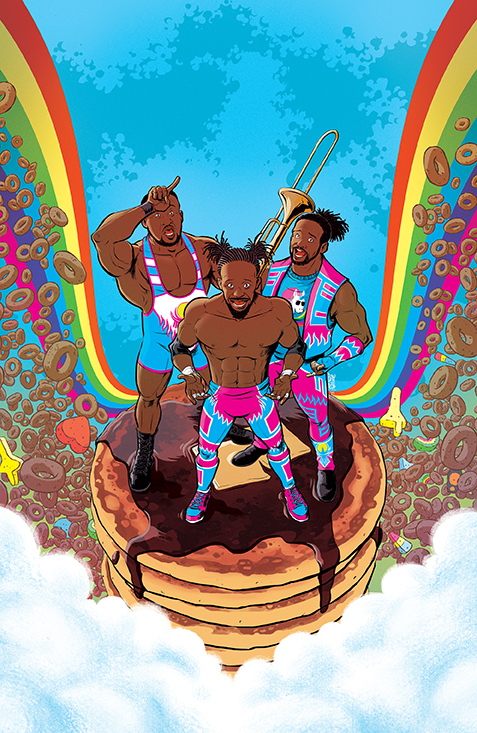WWE_NewDay_001_Cover_A_Main BOOM! Studios July 2021 Solicitations