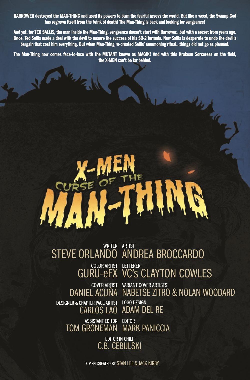 XMENMANTHINGCURSE2021001_Preview-2 ComicList Previews: X-MEN CURSE OF THE MAN-THING #1