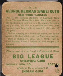 babe-ruth-5-1-252x300 Sports Cards Collecting Class #5: 1933 Goudey is a Game Changer!