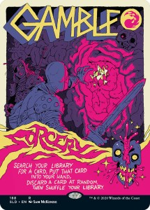 gamble-215x300 Magic: The Gathering In The Style of Concert Posters - Our Show Is On Friday, Can You Make It?