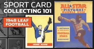 052021E-1-300x157 Sport Card Collecting 101: 1948 Leaf Football Kicks Off Football Card Collecting!
