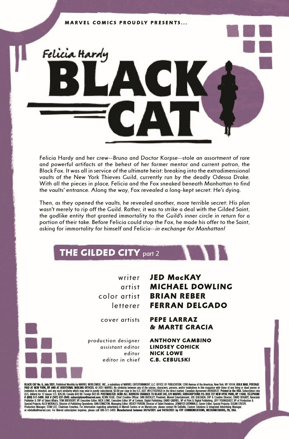 BLACKCAT2020006_Preview-2 ComicList Previews: BLACK CAT #6