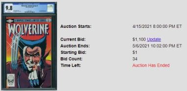 CGC-9.8-1-1-300x146 1 Comic, 5 Auction Lots: Wolverine Limited Series #1