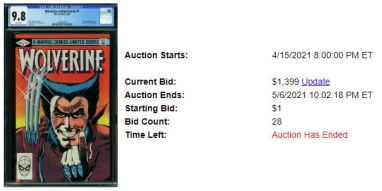 CGC-9.8-2-1-300x150 1 Comic, 5 Auction Lots: Wolverine Limited Series #1