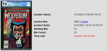CGC-9.8-4-off-white-white-pages-300x145 1 Comic, 5 Auction Lots: Wolverine Limited Series #1