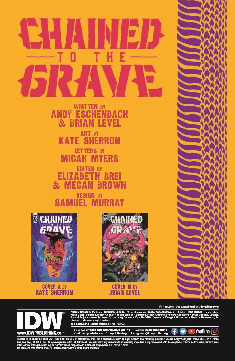 CttG03_pr-2 ComicList Previews: CHAINED TO THE GRAVE #3 (OF 5)
