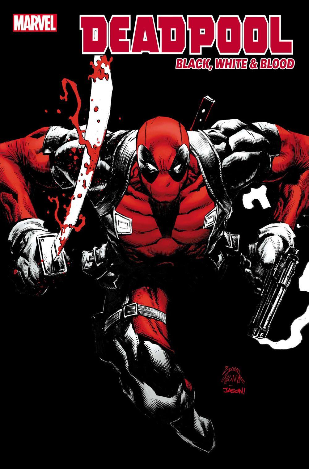 DPOOLBLKWHBL2021001_Stegman_Var Marvel Comics August 2021 Solicitations