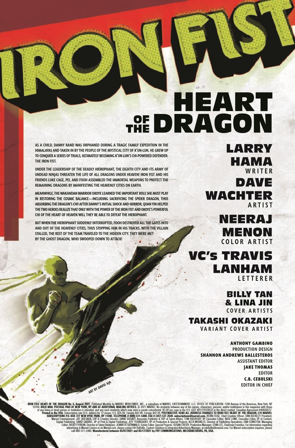 IRONFISTHOD2021006_Preview-2 ComicList Previews: IRON FIST HEART OF THE DRAGON #6 (OF 6)