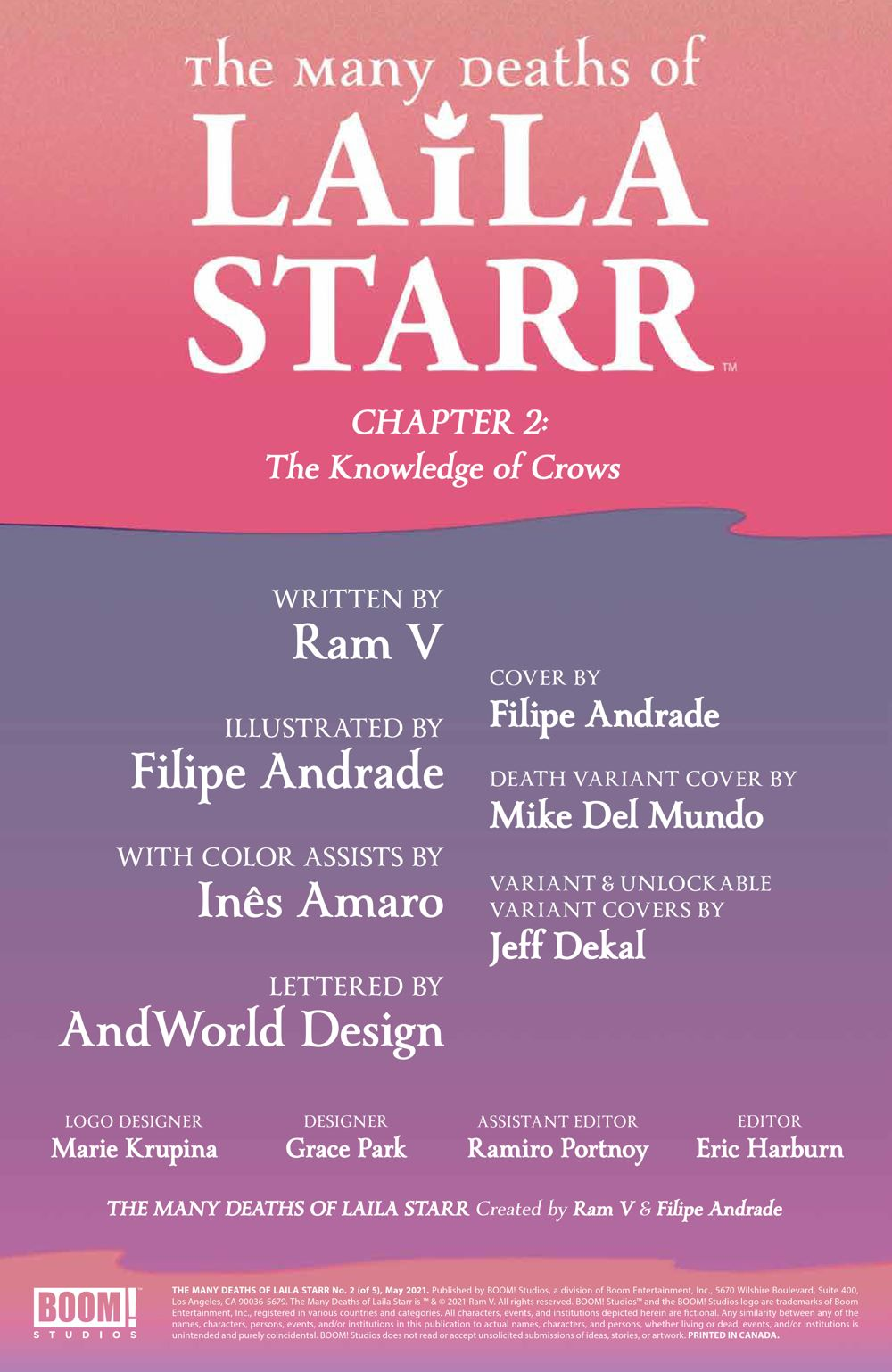 ManyDeathsLailaStarr_002_PRESS_2 ComicList Previews: THE MANY DEATHS OF LAILA STARR #2 (OF 5)