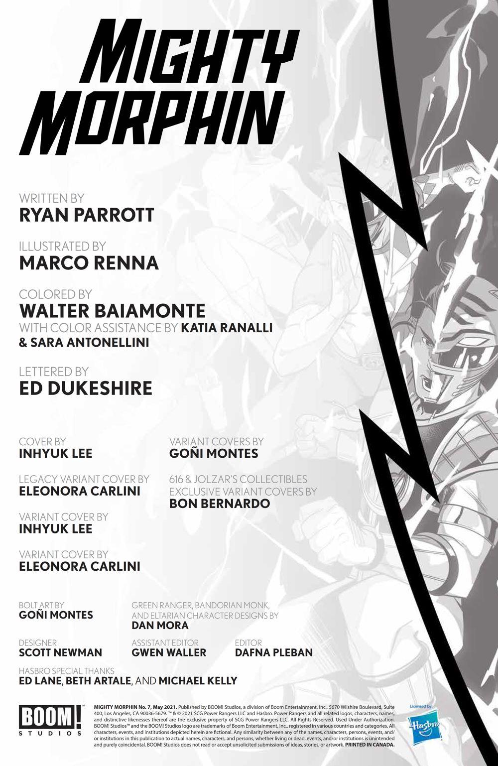 MightyMorphin_007_PRESS_2 ComicList Previews: MIGHTY MORPHIN #7