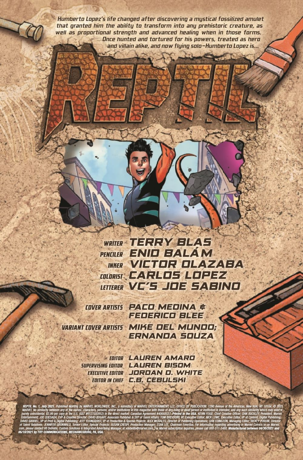 REPTIL2021001_Preview-2 ComicList Previews: REPTIL #1 (OF 4)