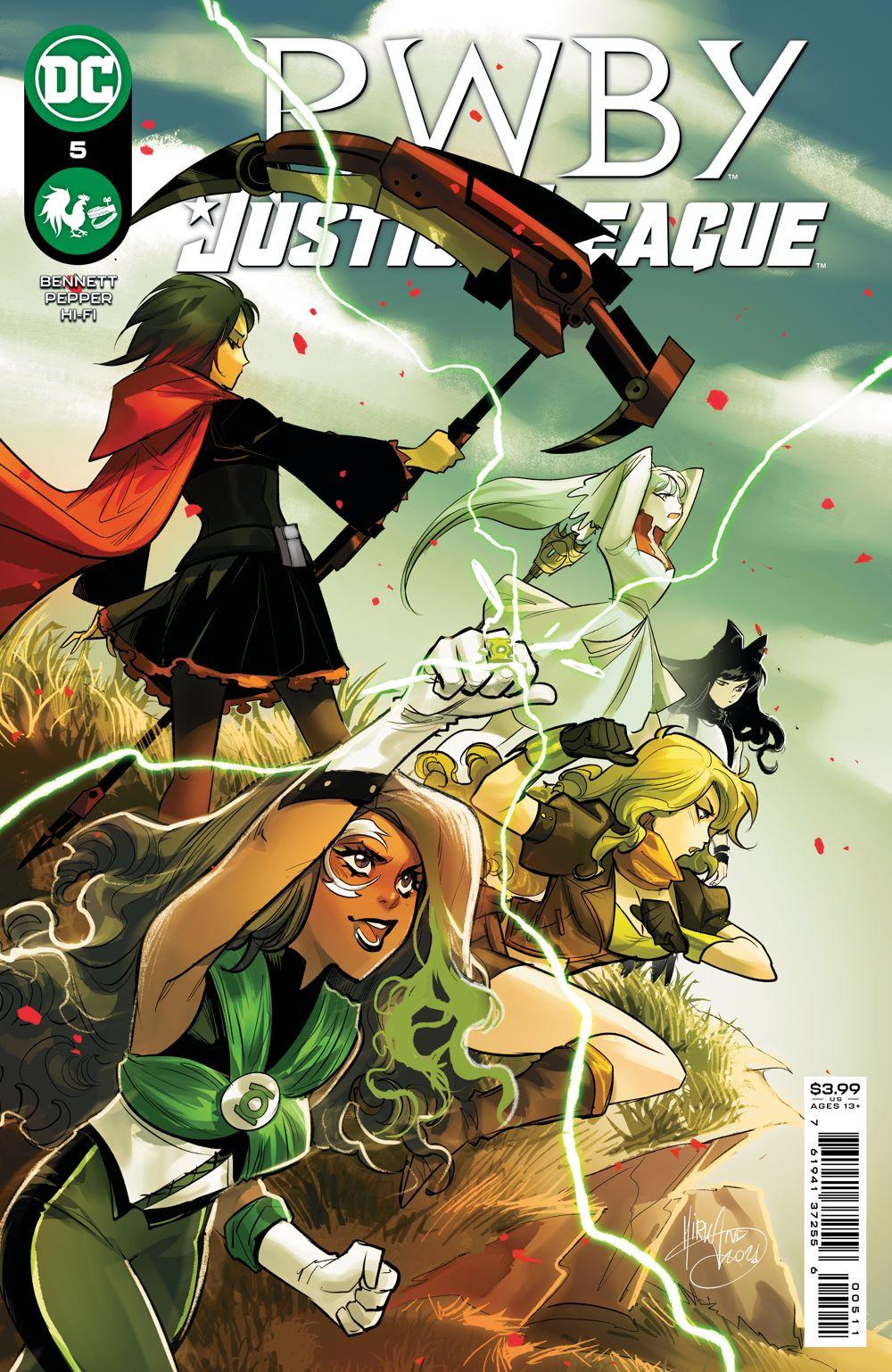 RWBYJL_Cv5 DC Comics August 2021 Solicitations