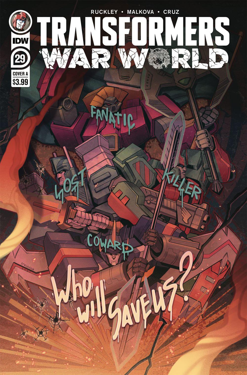 TF29-cvr-A-rev ComicList Previews: TRANSFORMERS #29