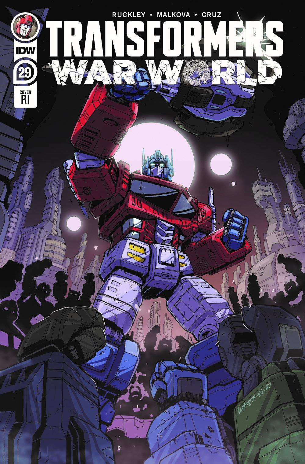 TF29-cvr-RI-rev ComicList Previews: TRANSFORMERS #29