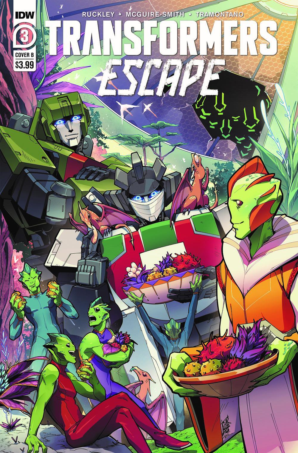 TFEscape03-Cover-B ComicList Previews: TRANSFORMERS ESCAPE #3 (OF 5)