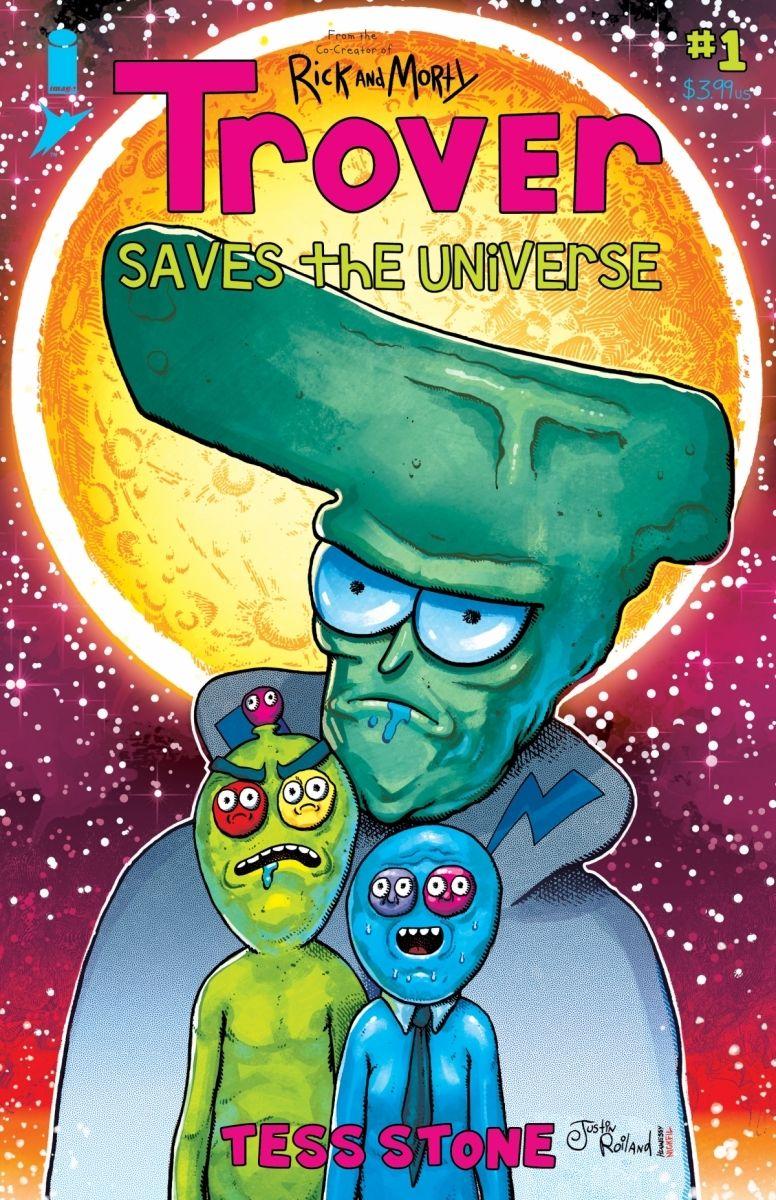Trover01B_RoilandCover_c6815a0147f8285e3b5042ebb3626151 TROVER SAVES THE UNIVERSE becomes a comic book miniseries