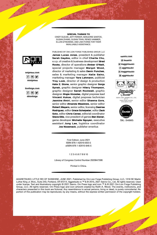 AGGRETSUKO-LITTLE-REI-REFERENCE-05 ComicList Previews: AGGRESTSUKO VOLUME 3 LITTLE REI OF SUNSHINE HC