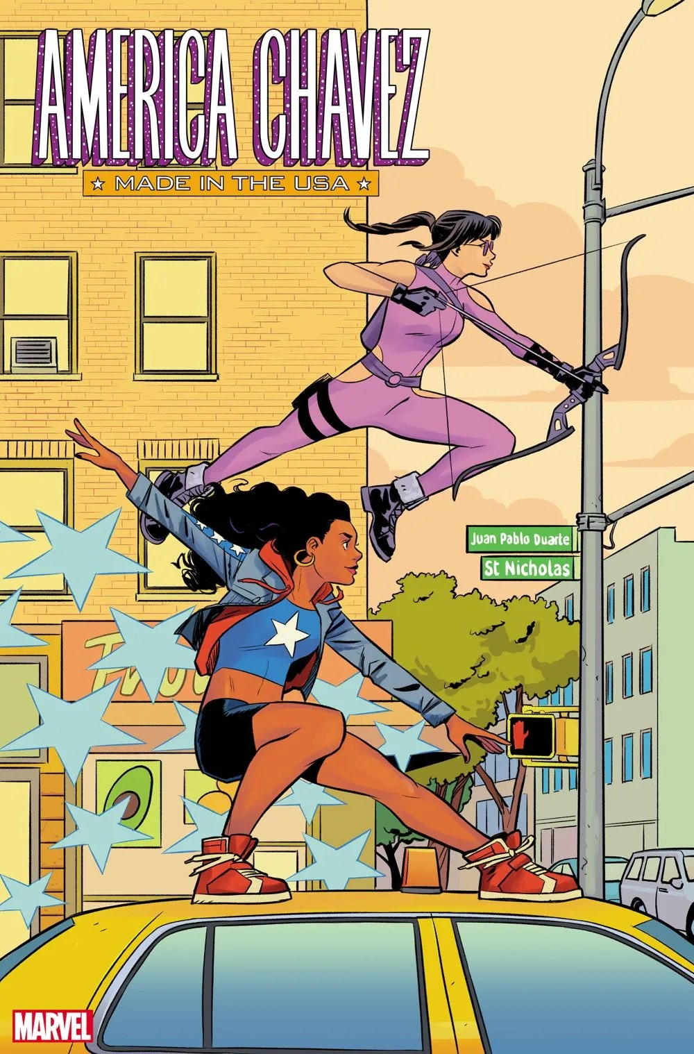 AMERCHAVEZUSA2021005_Bustos-var First Look at AMERICA CHAVEZ: MADE IN THE USA #4 from Marvel Comics