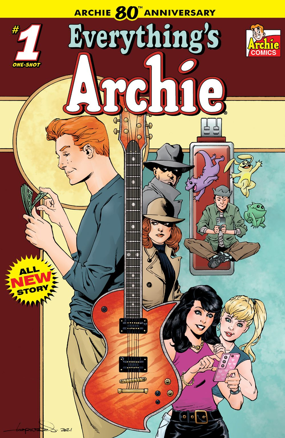 EverythingsArchie_01_CoverD_Lopresti ComicList Previews: ARCHIE 80TH ANNIVERSARY EVERYTHING'S ARCHIE #1
