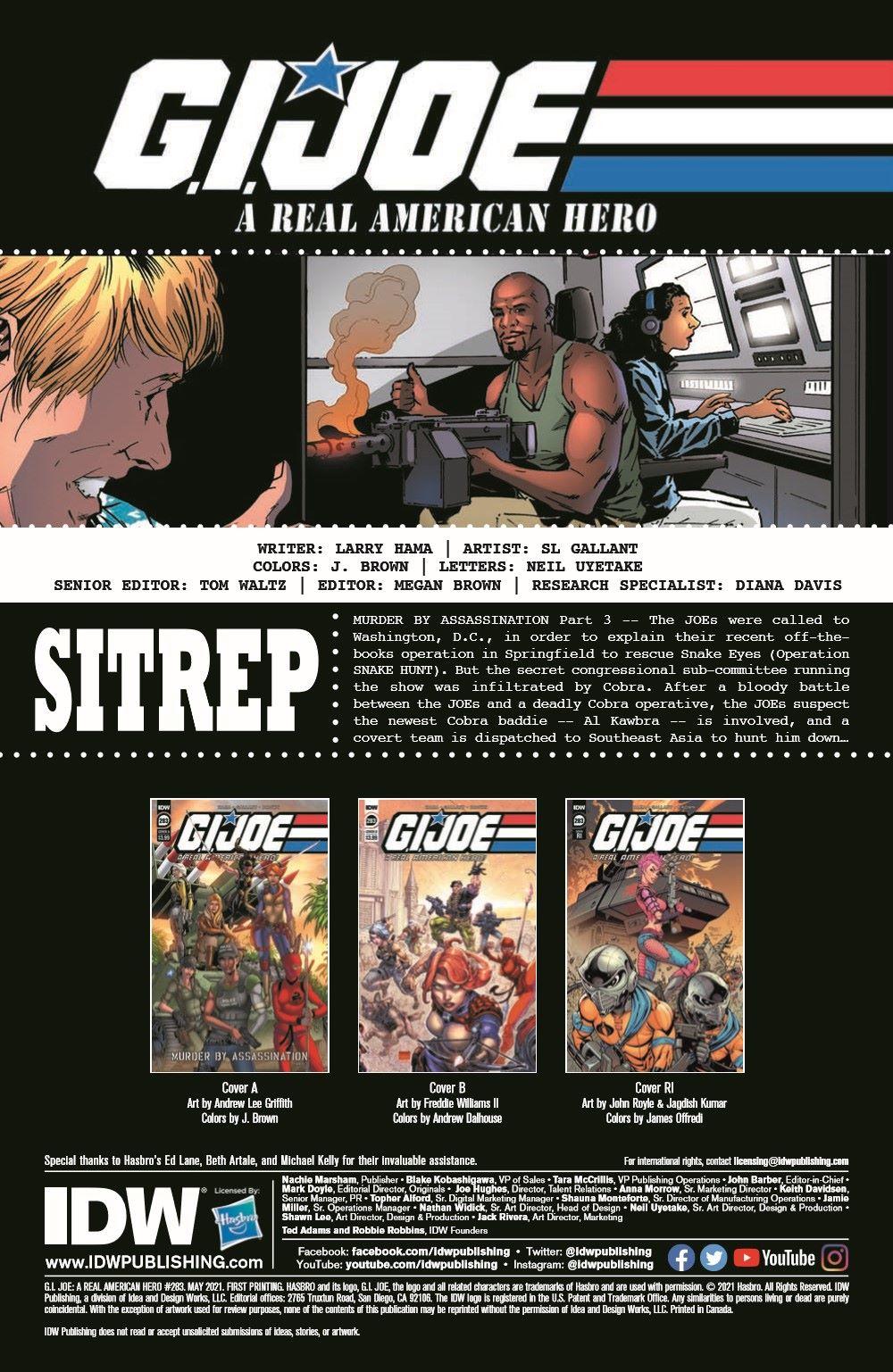 GIJoeRAH283-pr-2 ComicList Previews: G.I. JOE A REAL AMERICAN HERO #283