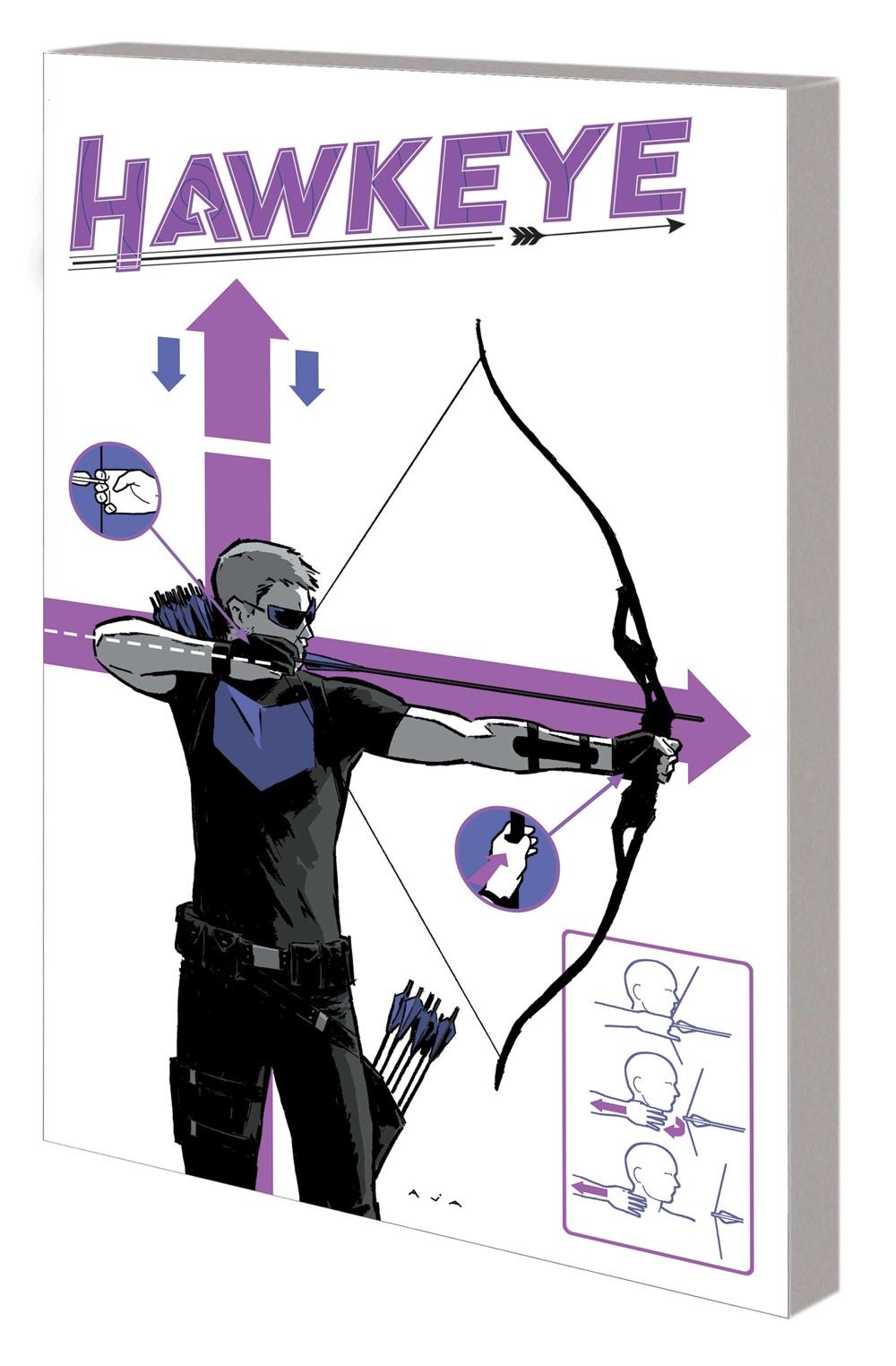 HAWKEYE_SAGA_TPB_AJA Marvel Comics September 2021 Solicitations