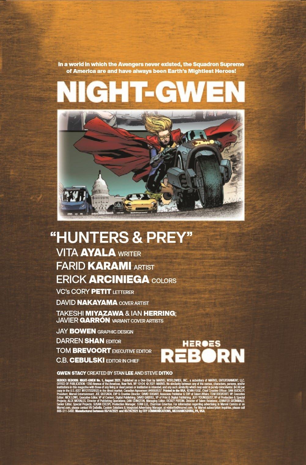 HRNIGHTGWEN2021001_Preview-2 ComicList Previews: HEROES REBORN NIGHT-GWEN #1