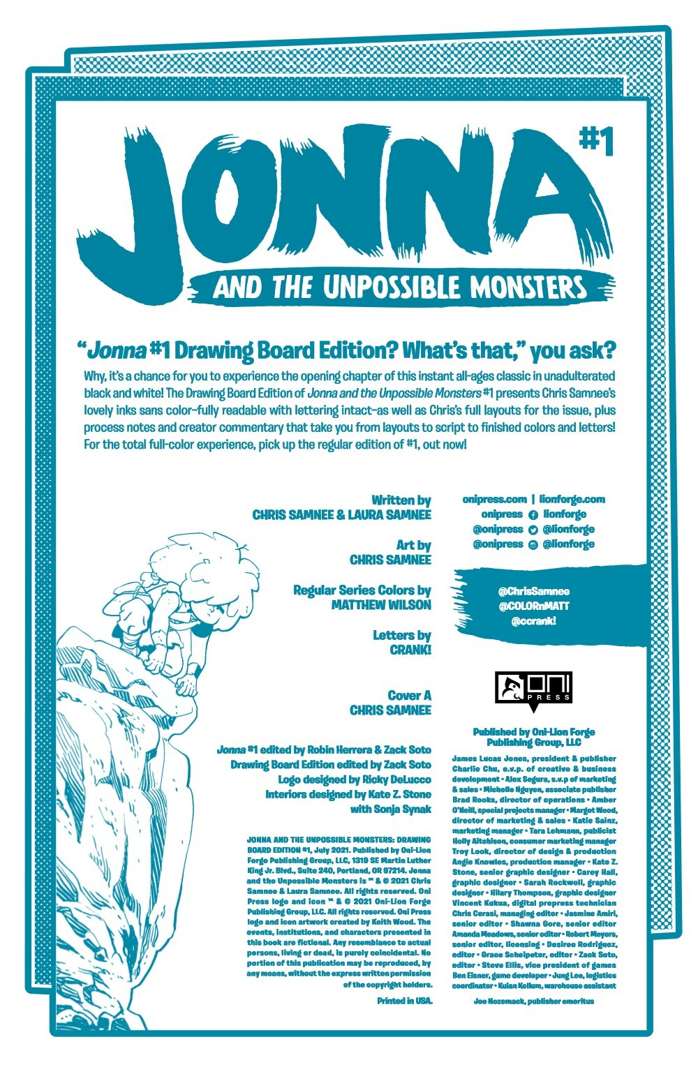JONNA-1-DB-PGS-01-32-FNL-1-02 ComicList Previews: JONNA AND THE UNPOSSIBLE MONSTERS #1 (DRAWING BOARD EDITION)
