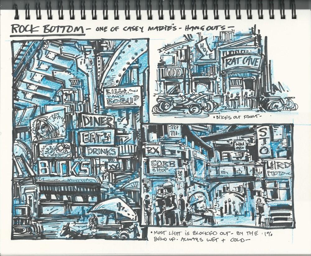 Last-Ronin-Rock-Bottom-Casey-Hang-Sketch-1-copy IDW Publishing September 2021 Solicitations