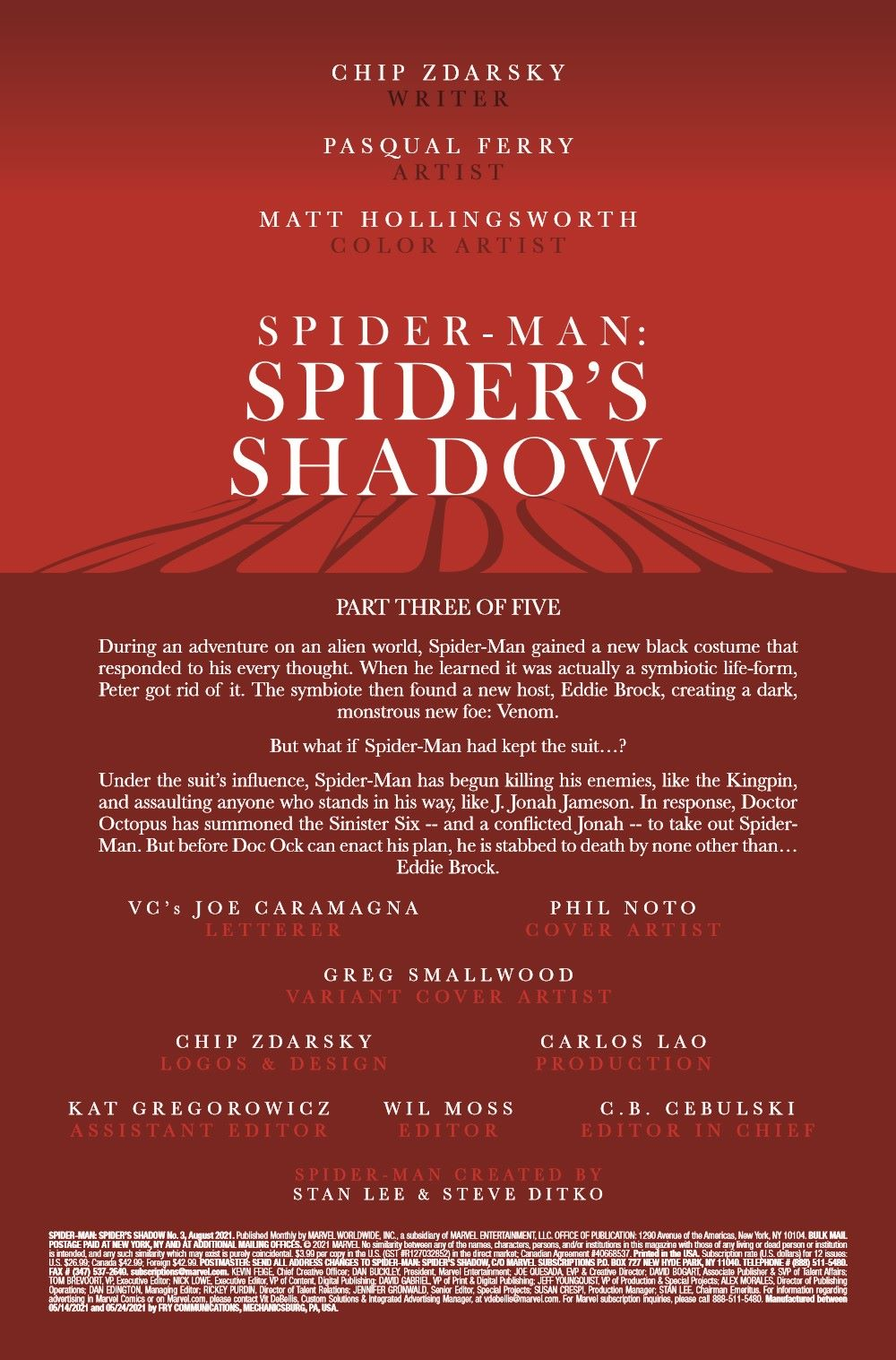 SMSPIDERSHADOW2021003_Preview-2 ComicList Previews: SPIDER-MAN SPIDER'S SHADOW #3 (OF 4)