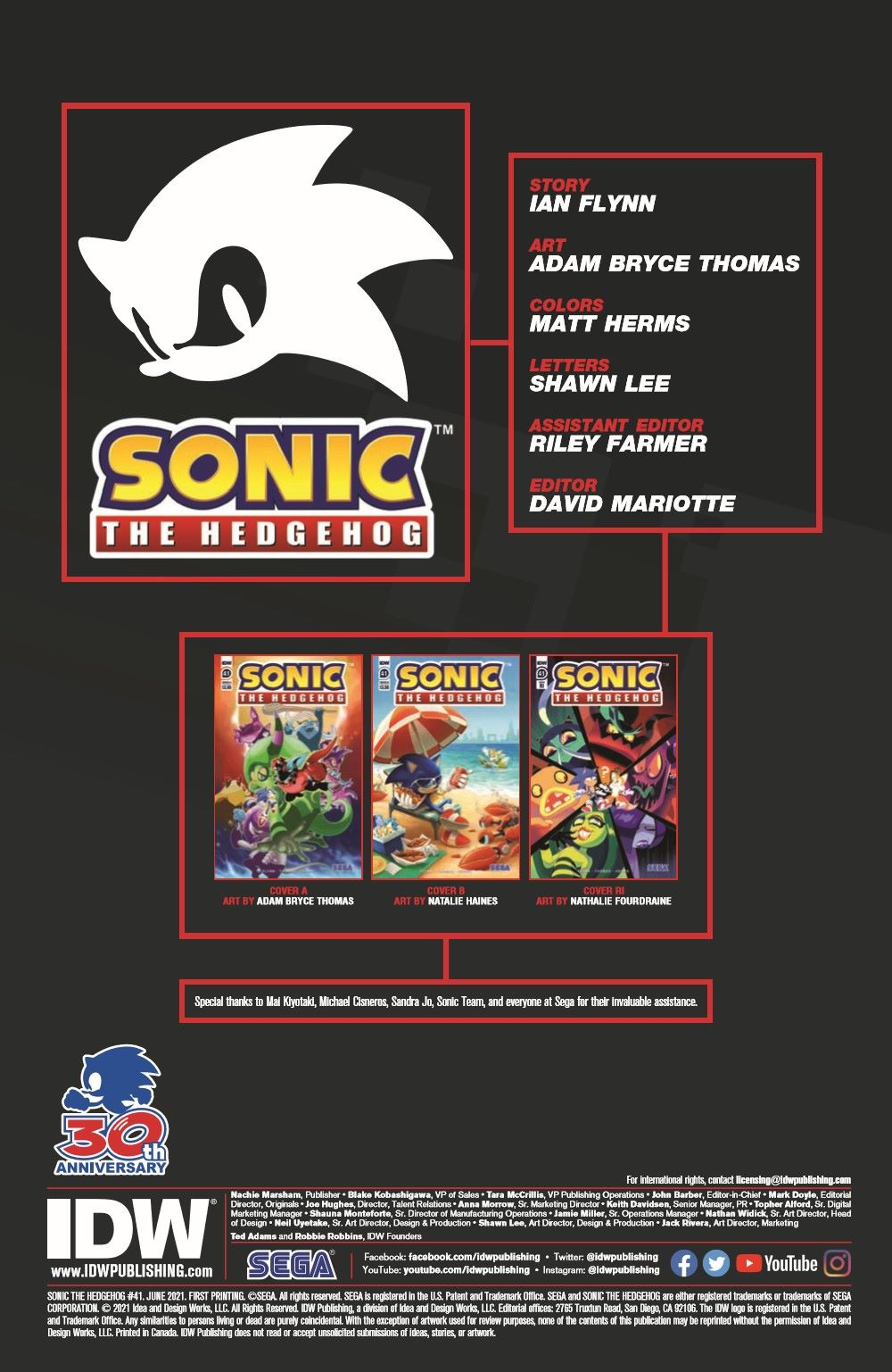 STH41_pr-2 ComicList Previews: SONIC THE HEDGEHOG #41