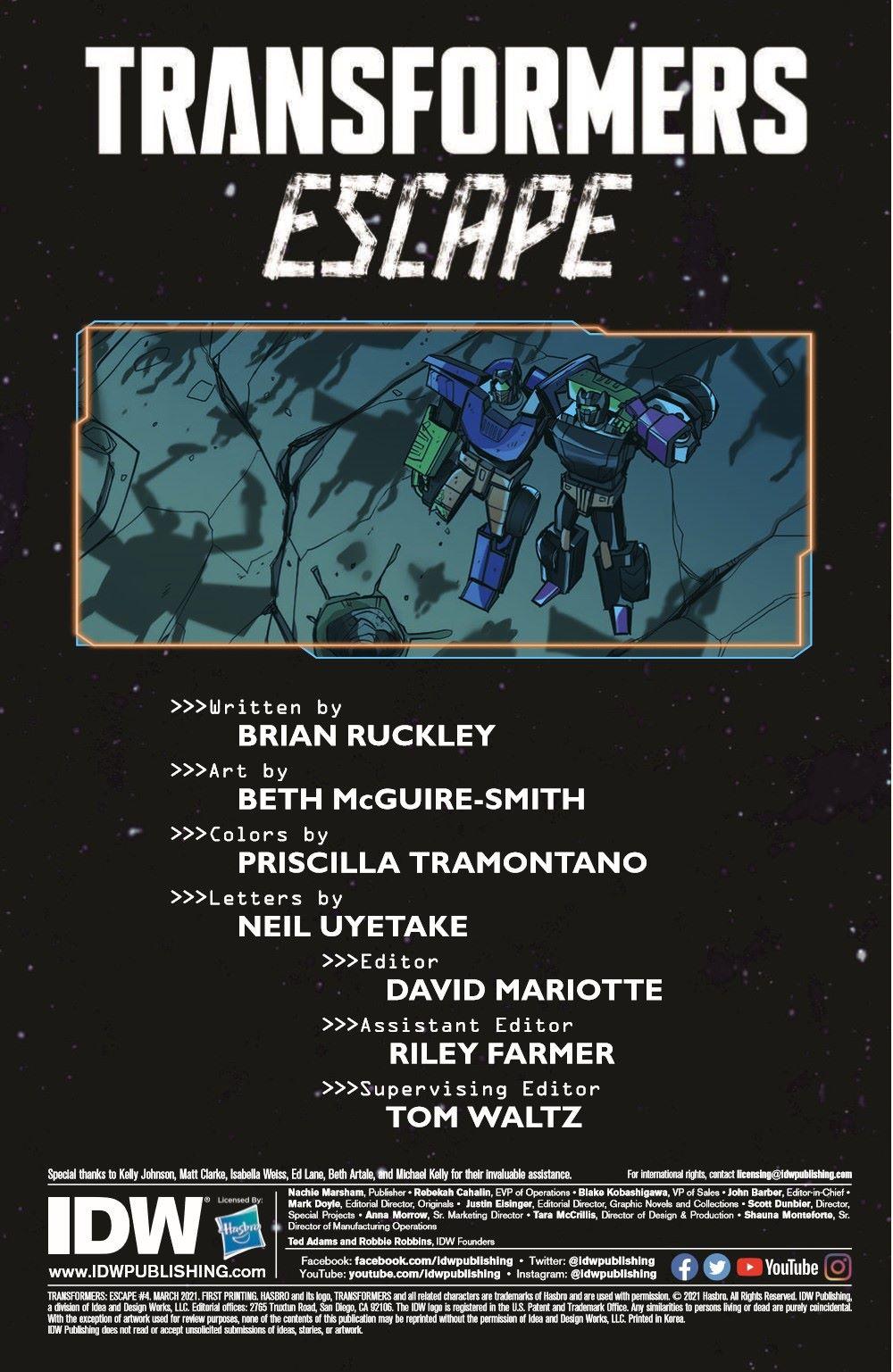 TFEscape04-pr-4 ComicList Previews: TRANSFORMERS ESCAPE #4 (OF 5)