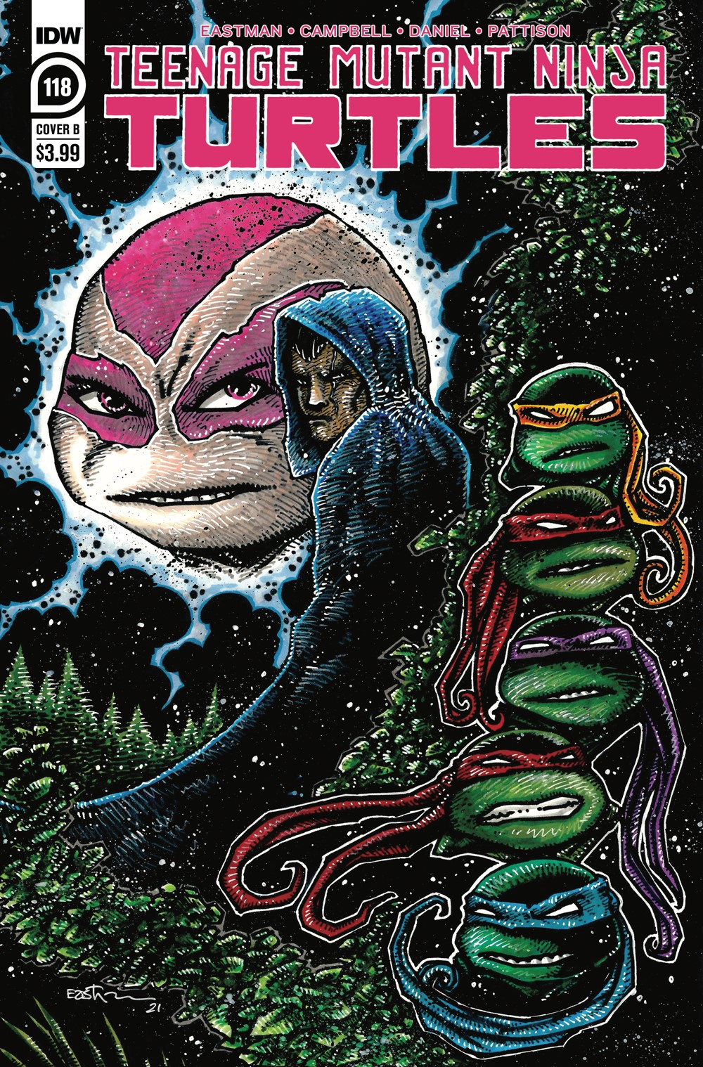 TMNT118_cvrB ComicList: IDW Publishing New Releases for 06/23/2021
