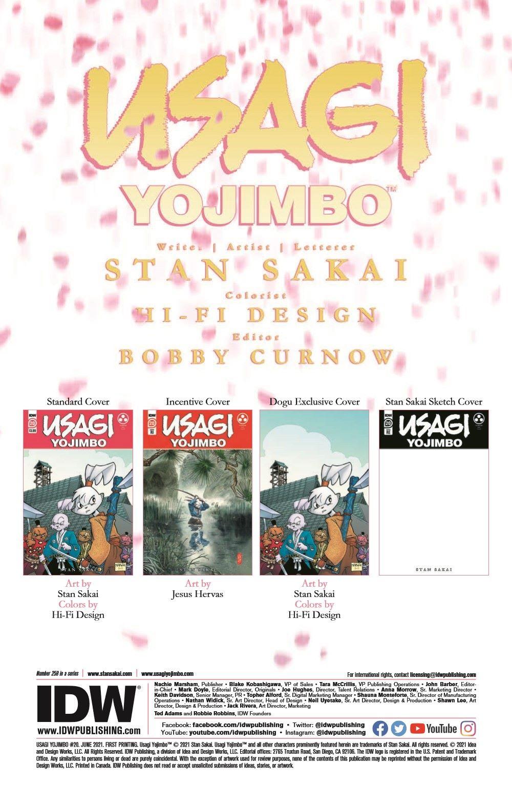 Usagi20_pr-2 ComicList Previews: USAGI YOJIMBO #20