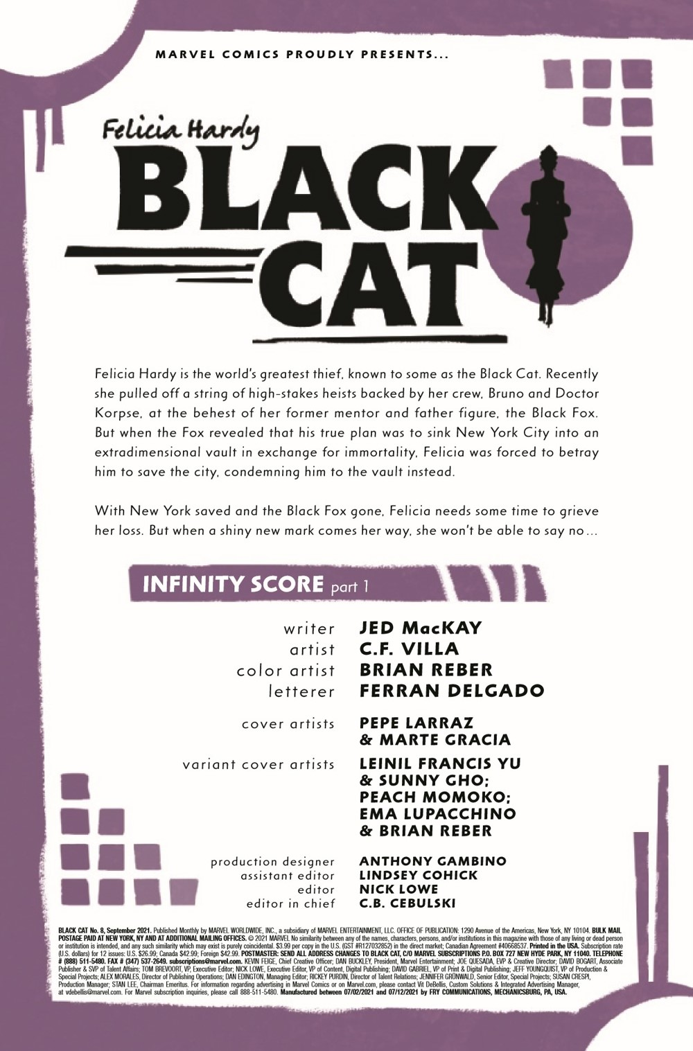 BLACKCAT2020008_Preview-2 ComicList Previews: BLACK CAT #8