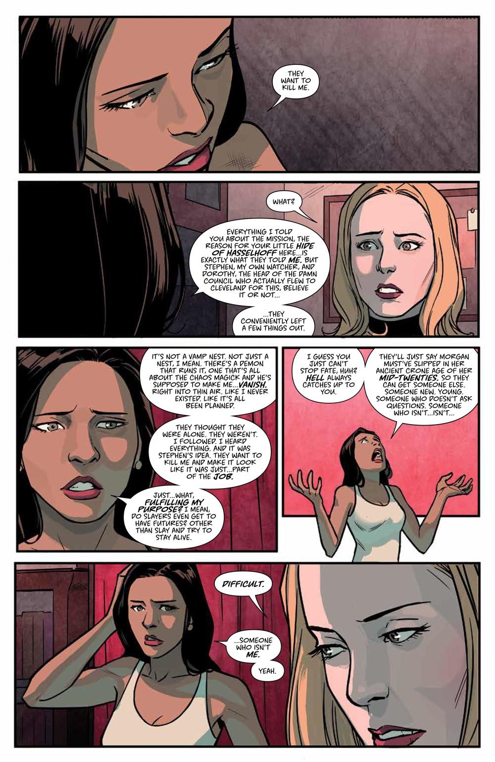 Buffy_v6_SC_PRESS_18 ComicList Previews: BUFFY THE VAMPIRE SLAYER VOLUME 6 SECRETS OF THE SLAYER TP