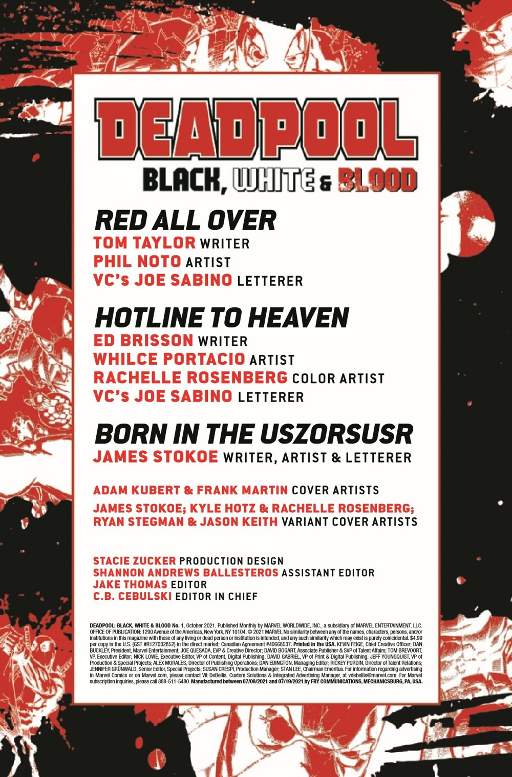 DPOOLBLKWHBL2021001_Preview-2 ComicList Previews: DEADPOOL BLACK WHITE AND BLOOD #1 (OF 4)