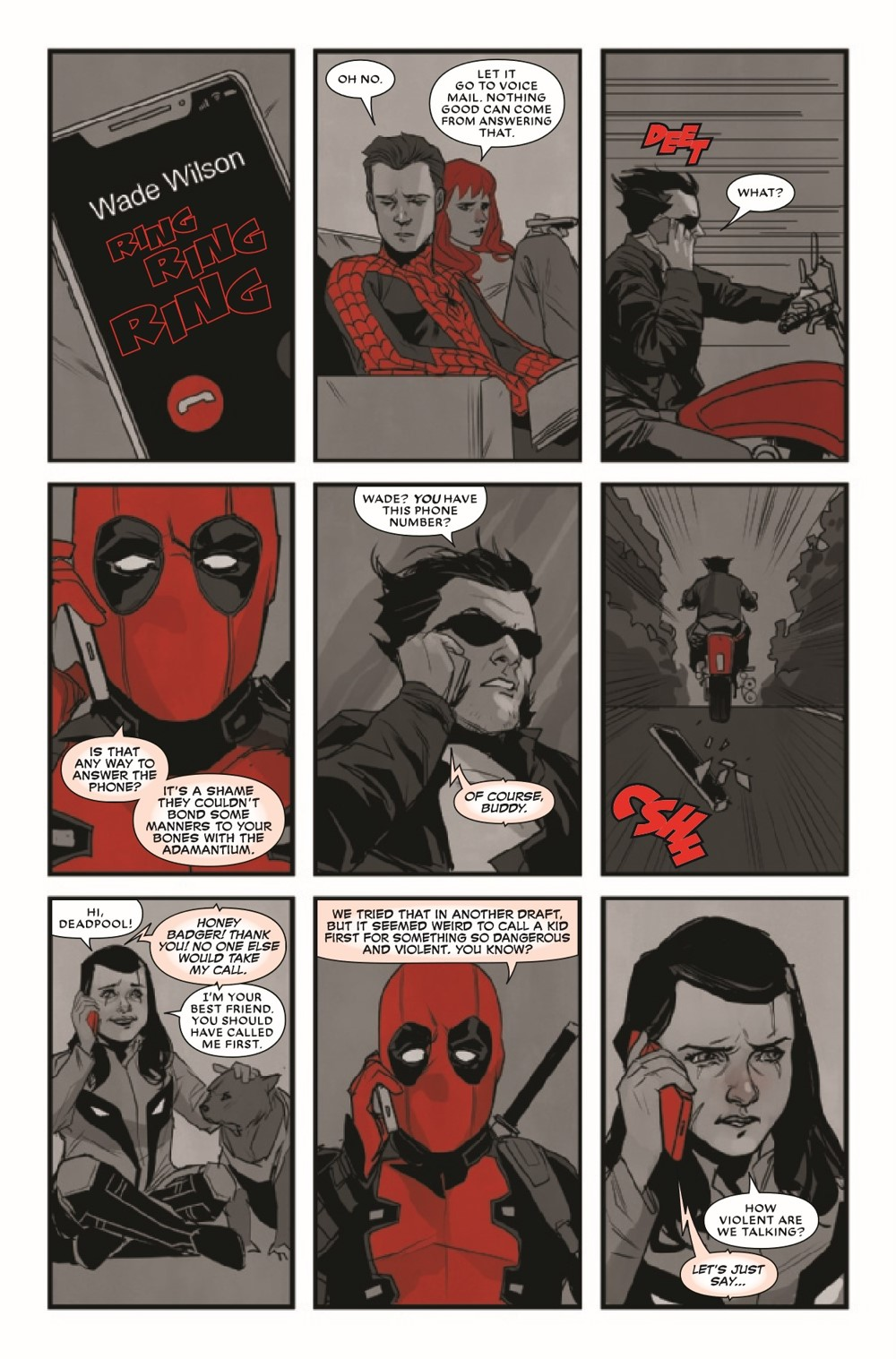 DPOOLBLKWHBL2021001_Preview-3 ComicList Previews: DEADPOOL BLACK WHITE AND BLOOD #1 (OF 4)