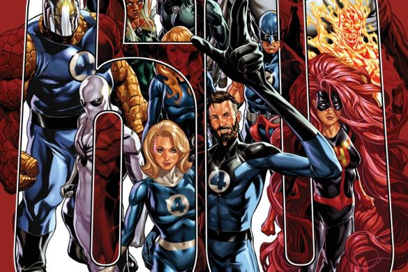 FF2018035_Cov Witness the growth of the Fantastic Four in this John Romita Jr. wraparound cover