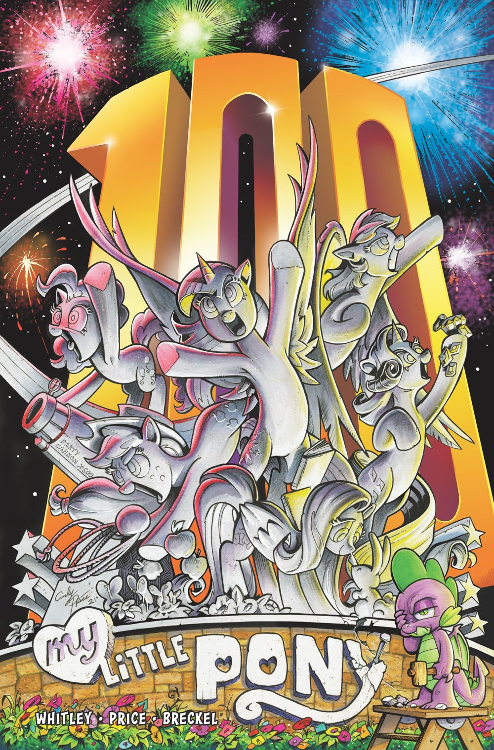 MLP100_12-coverA ComicList Previews: MY LITTLE PONY FRIENDSHIP IS MAGIC #100