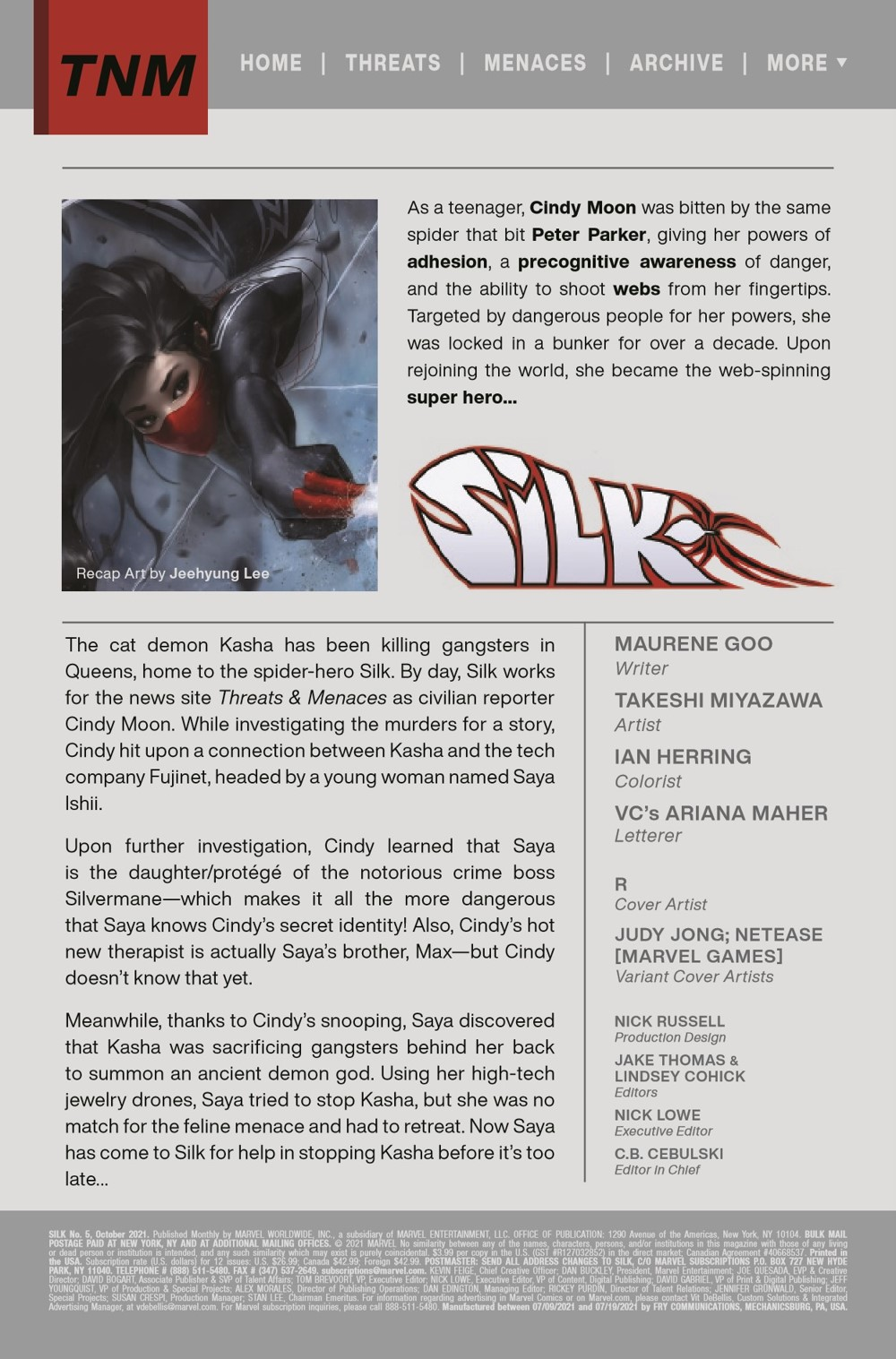 SILK2021005_Preview-2 ComicList Previews: SILK #5 (OF 5)