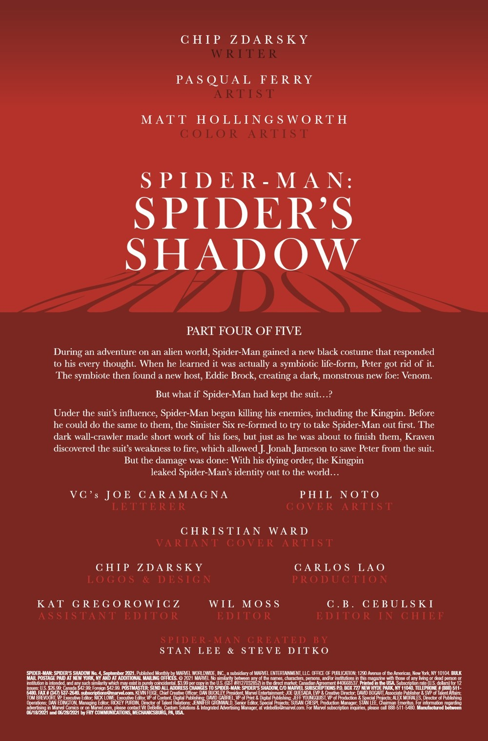 SMSPIDERSHADOW2021004_Preview-2 ComicList Previews: SPIDER-MAN SPIDER'S SHADOW #4 (OF 5)